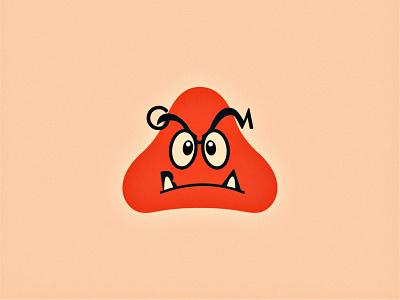 Goomba. (2/3) experimental video games gaming nintendo super mario mario logo design flat minimal modern
