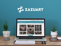 ZazuArt logo & website