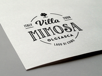 Villa Mimosa logo badge