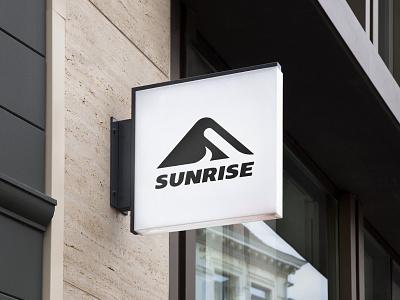 Sunrise logo outdoor clothing outdoor brand s type hidden s lights shadows concept logo negative space sunrise