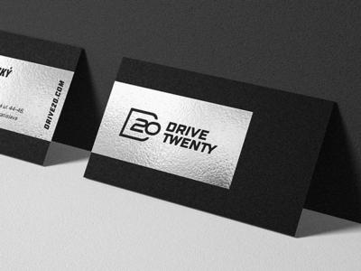 Drive20 logo & identity timeless modern clean simple automotive car drive identity logo