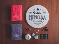 Villa Mimosa logo & interior photography