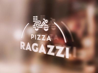 Pizza Ragazzi logo italian pizza logo restaurant logotype type mark custom typography identity branding symbol logo