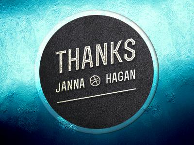 Thanks Janna Hagan thanks sea badge