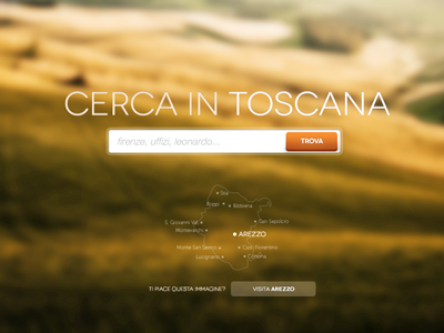 Cerca In Toscana tuscany search ui