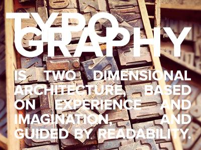 Typography quote typography zapf quote
