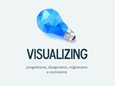 Visualizing visualizing logo poly polygone polygonize blue lightbulb