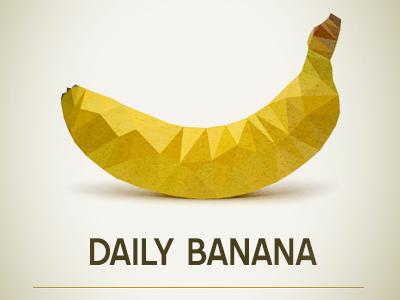 Daily Banana daily banana poly logo polygonize polygon