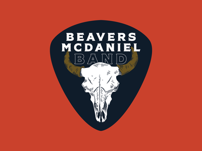 Beavers McDaniel Band - Logo illustration vector label logo