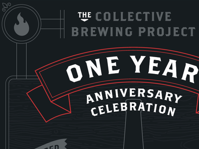 One Year Anniversary Poster beer brothers bottle brewery