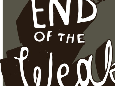 End of the Weak stout label beer hand drawn lettering brewery