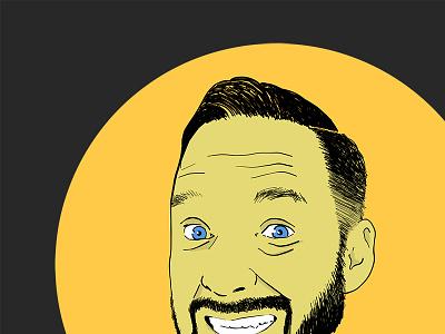 iPad Pro Self Portrait hand drawn vector self portrait adobe