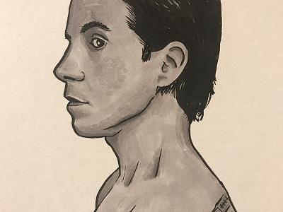 Inktober - Anthony Kiedis marker brush pen illustration inktober
