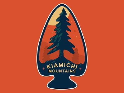 Kiamichi Mountain Sticker sticker mountains purveyor pine tree illustration