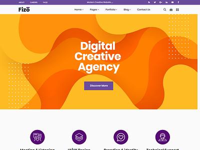 Fizo - Creative MultiPurpose HTML5 Template digital marketing agency digital marketing creative design agency creative agency creative business agency
