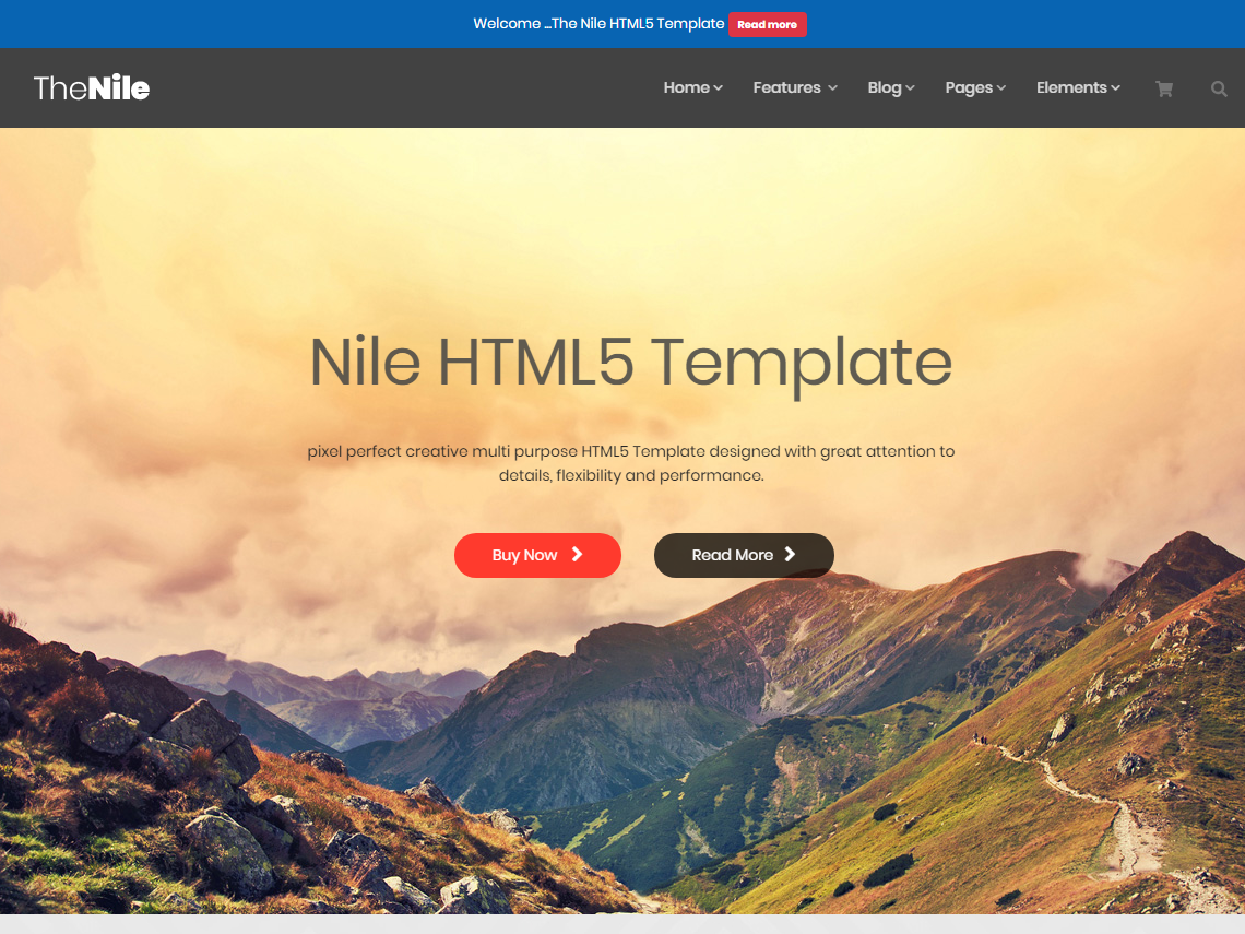 TheNile - Multipurpose HTML Template video background responsive portfolio particles background parallax onepage multipurpose modern corporate business bootstrap4 bootstrap agency