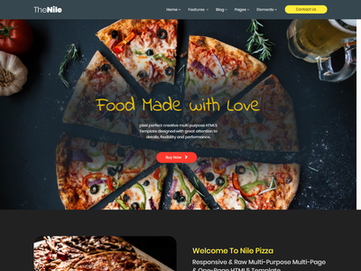 TheNile – Multipurpose HTML Template video background responsive portfolio particles background parallax onepage multipurpose modern corporate business bootstrap4 bootstrap agency