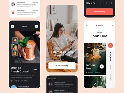Food App - Exploration #2 userinterface concept iphone layout design order cocktail layout ux app design icon mobile exploration ui