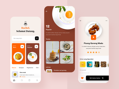 Cooking App, Again. exploration icons ios mobile recipe ui userinterface food cooking app