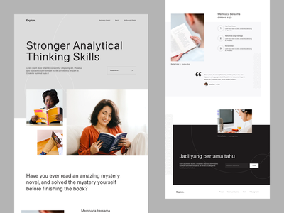 Website - Exploration layout design typogaphy home page landing page minimalism photo minimalist dekstop website design explorations userinterface exploration ui