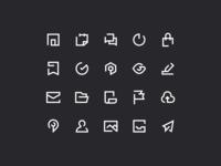 Icons - Exploration folder calendar send profile settings chat home bold line icon design iconography iconset daily exploration design icon