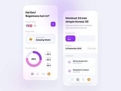 Project Management - Exploration ios app task management task project management userinterface app daily design icon mobile exploration ui