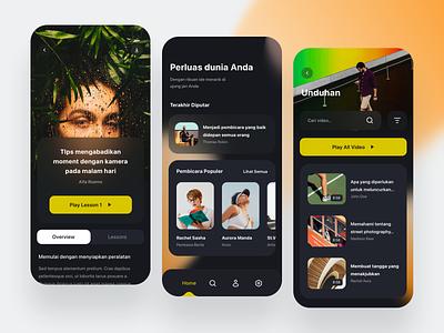 Online Class App - Exploration concept classes online class userinterface design icon mobile exploration ui
