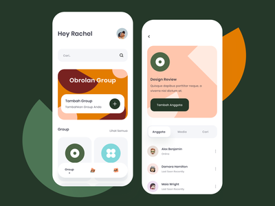 Group Chat App - Exploration team chat group chat pattern icons explore daily userinterface design mobile icon exploration ui