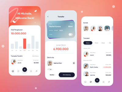 Wallet App - Exploration colors clean pay payment method banking wallet iphone transaction payment app daily userinterface mobile design icon ui exploration