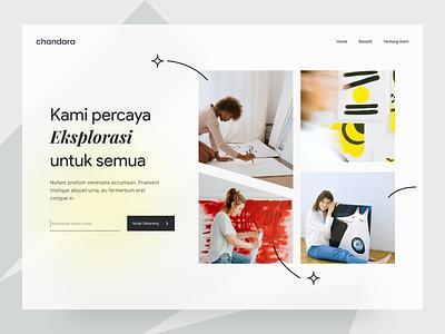 Creative class website - Exploration uidesign creativity creative typography editorial minimalist class desktop website design ui exploration