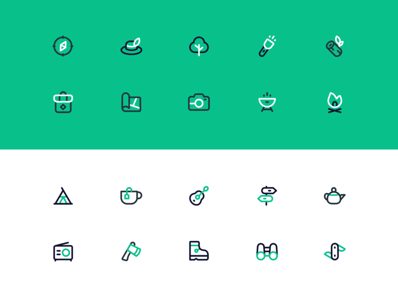 Camping icons!