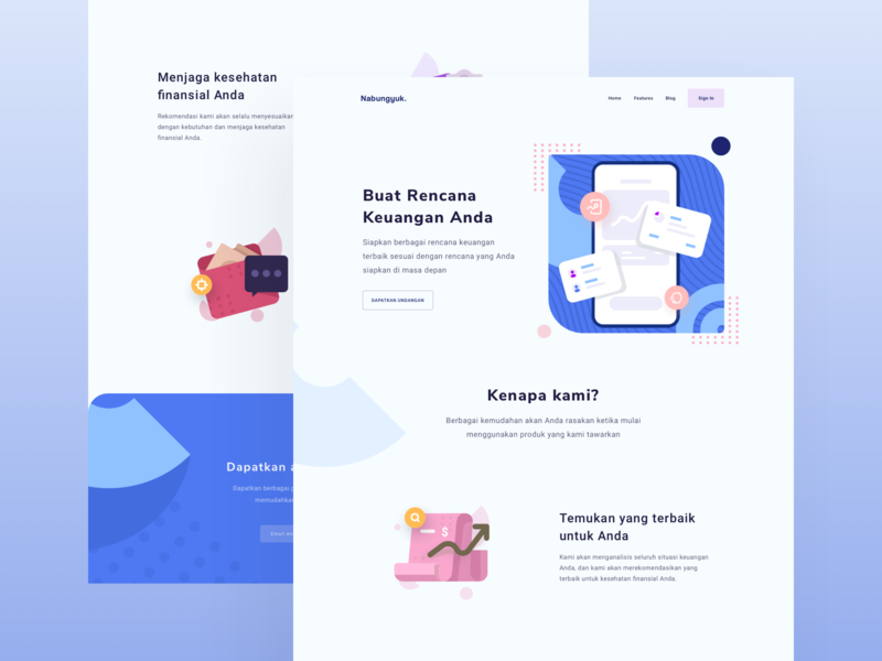 Saving money -  landing page exploration