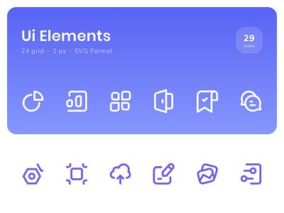 Icon - Ui Elements icons pack icons uidesign ui icon set icon design ui element stock icon