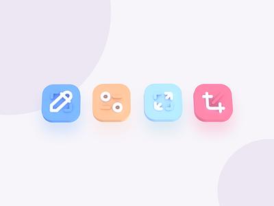 Icon - 3D Explorations ui element exploration illustration icon design icon set design colors 3d icon
