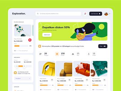 Ecommerce - Exploration desktop catalog category ecommerce shop search web uiux ui product icon exploration illustration website ecommerce