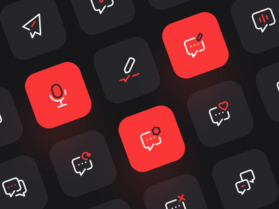Message icons iconography line ui minimalist icon app icon set icons pack chat exploration iconset icons message