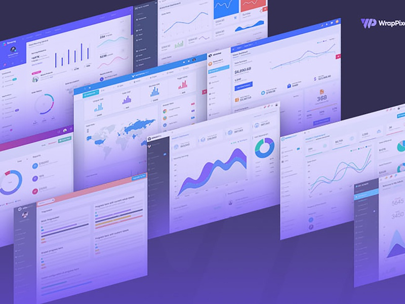 10 Responsive, Minimalist Admin Panel Templates To Make Your Lif minimal modern logo design vuejs react bootstrap angular dashboard admin template admin