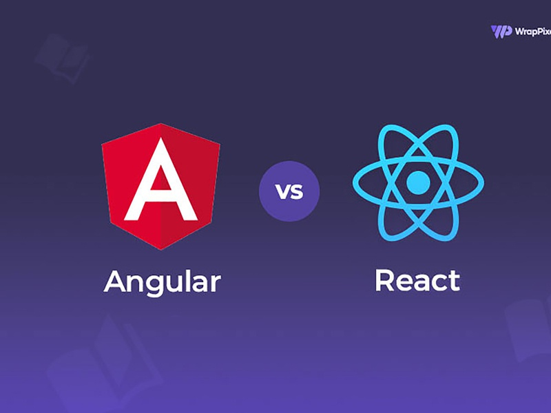 Angular v/s React JS: Which is the better? minimal modern logo design vuejs react bootstrap angular dashboard admin template admin