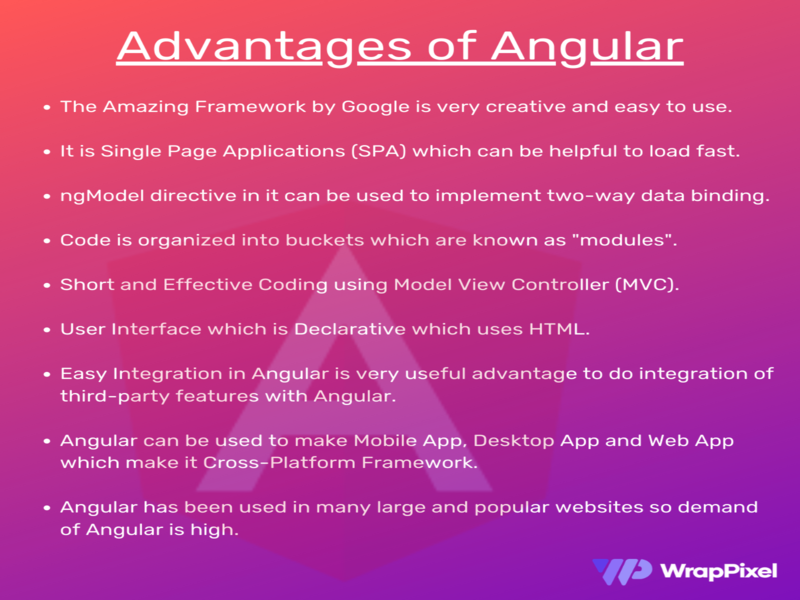 Advantages of Angular angular admin template angular dashboard angularjs angulardeveloper developers developer angular