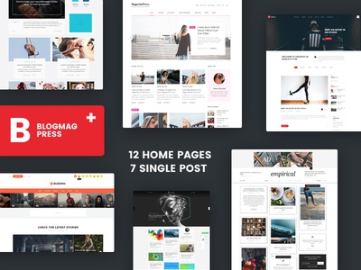Blogmag Press - Blog, News and Magazine PSD template