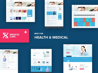 Medical Care - Health and Medical PSD Template