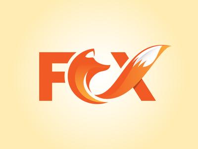 Fox Logo Concept fox head fox tail orange logo illustration vector logo typography fox logo fox