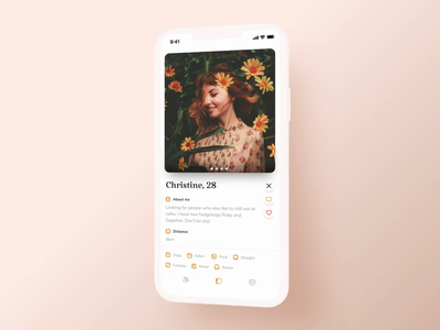 Matching and Chatting Interaction – Premium Dating App sending process love date dating app dating elegant tinder swiping swipe touch interaction send message chatting chat matching match cards design cards ui