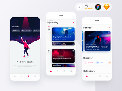 Event Booking App Freebie uiux ui free download freebie figma sketch music musicals event booking buying concert seats tickets events photo illustration singer musical