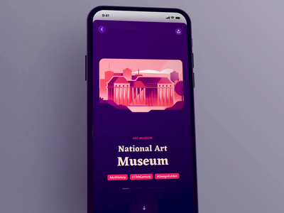 Explore Culture in Warsaw - #MadeWithAdobeXd explore national painting animation clickable interaction museum map city art culture warsaw