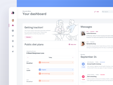 Diet Monitoring Tool - Dietician's Dashboard