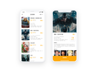 Movie App Redesign page