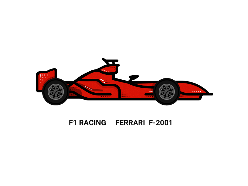 F1 Racing Ferrari F,2001 by Wilbur Xu on Dribbble