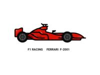 F1 Racing  Ferrari F-2001