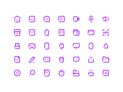 35 Simple Line Icons - Free Set - 💎.sketch